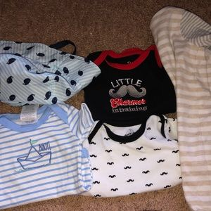 Other - A hat, onesies, and shorts 0-3 months